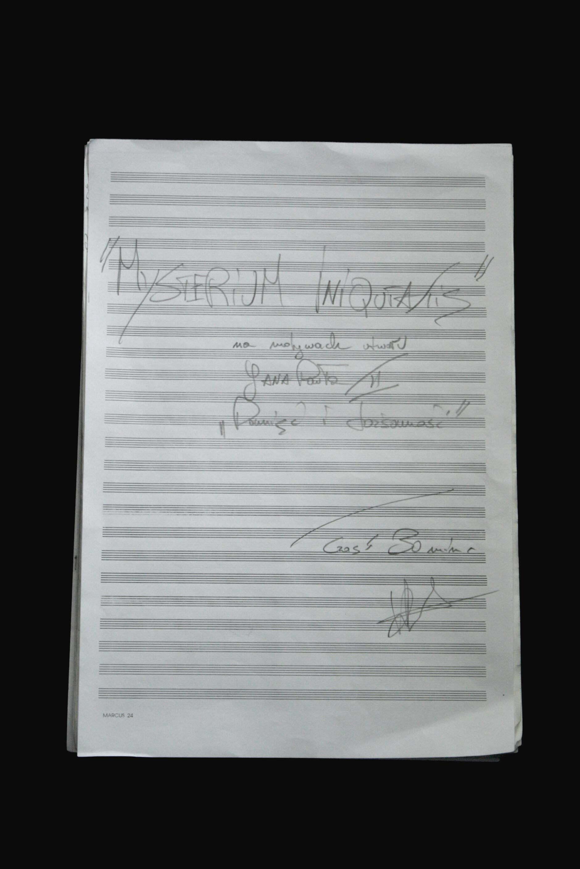 Mysterium Iniquitatis autograf